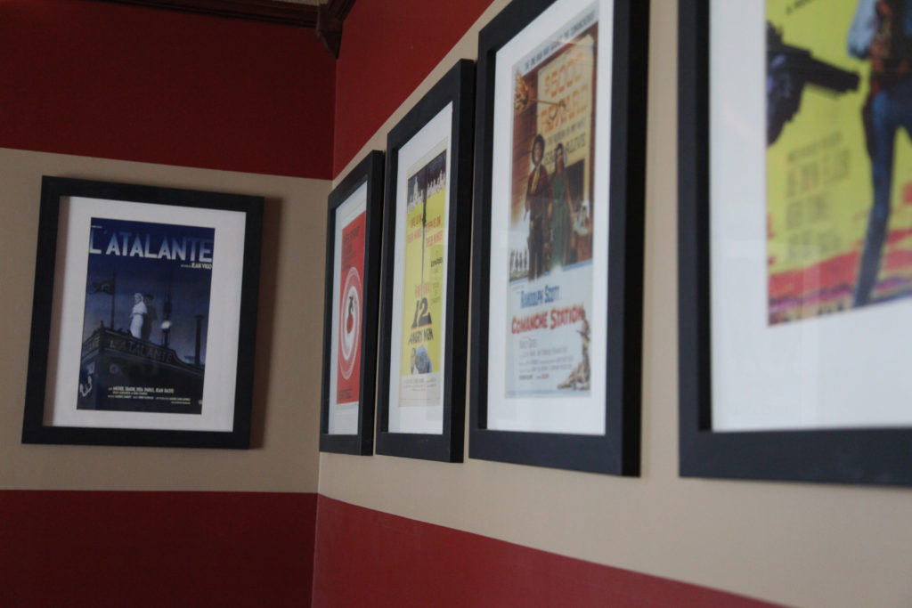 Framed Movie Posters in Entertainment Room