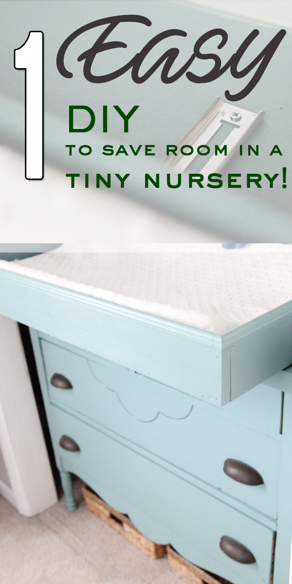 1 easy DIY to save room in a tiny nursery
