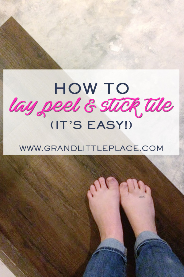 How to lay peel and stick tile in as little as one day!