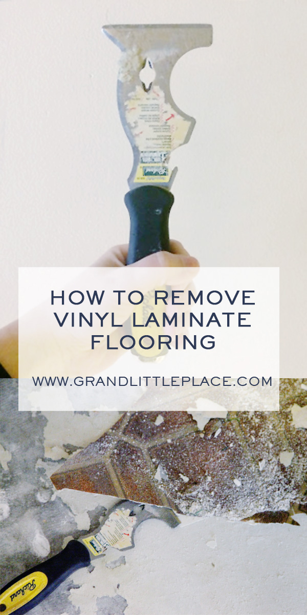 How to remove vinyl laminate flooring