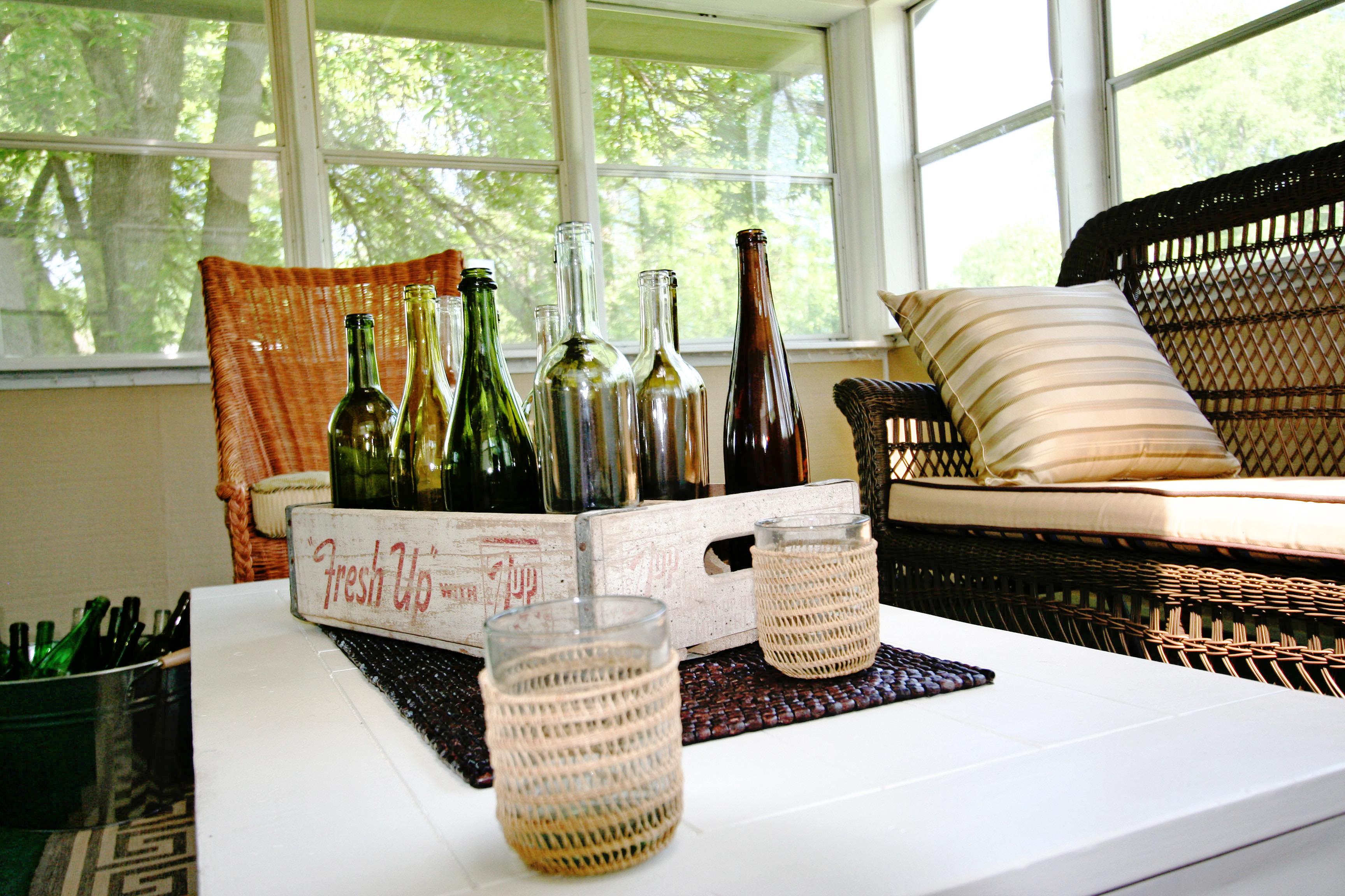 Sun room table centerpiece