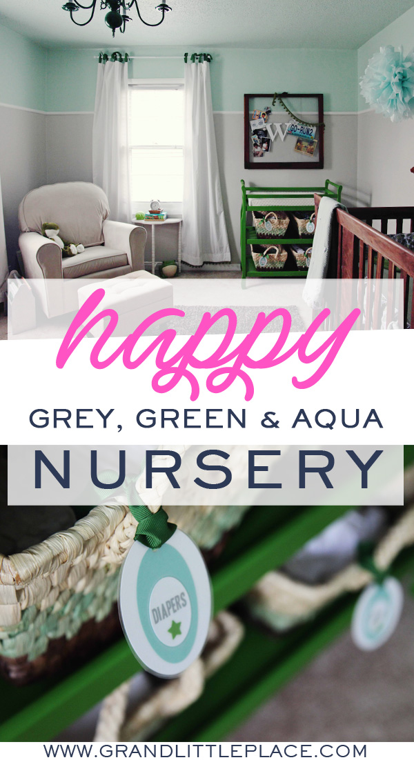DIY Green Grey Mint Nursery Featured on Apartment Therapy