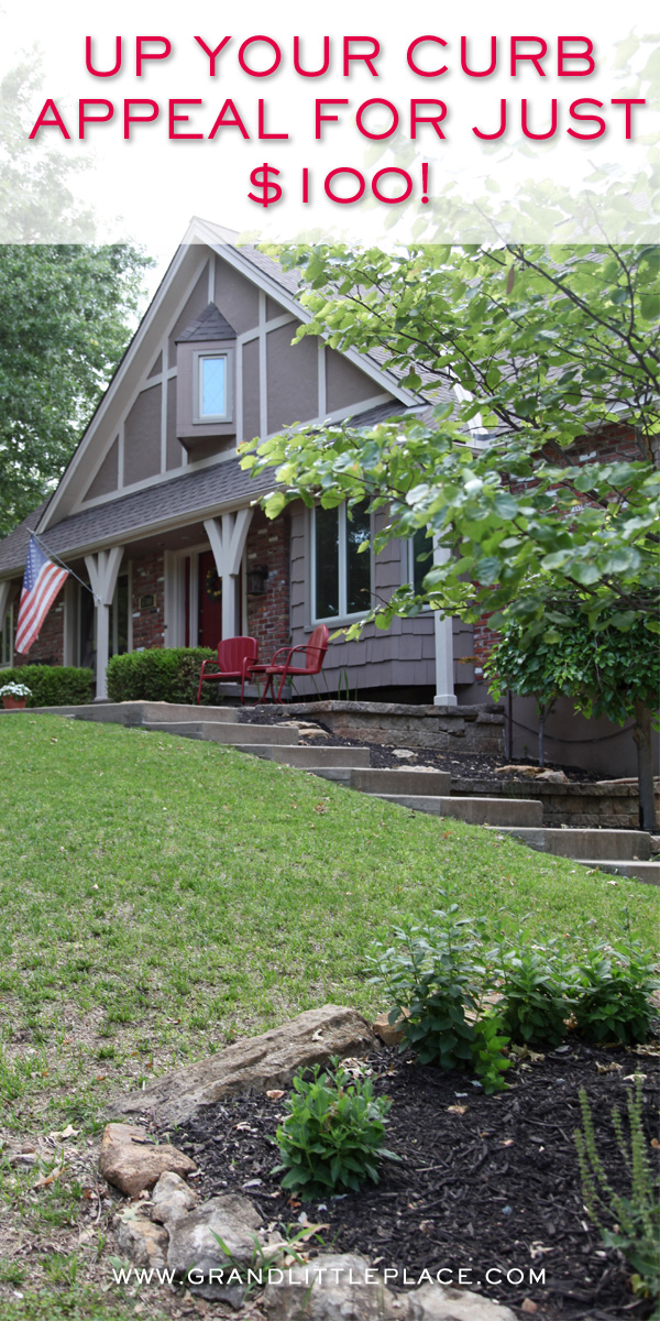 Increase curb appeal in one day on a budget!