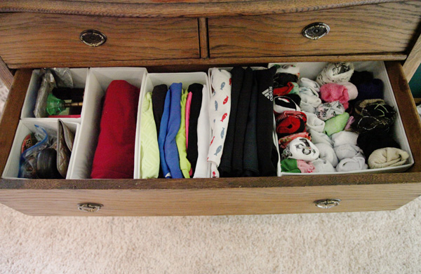 After photo of dresser drawer using Ikea Skubb