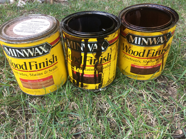 Using minwax stains on an outdoor potting bench