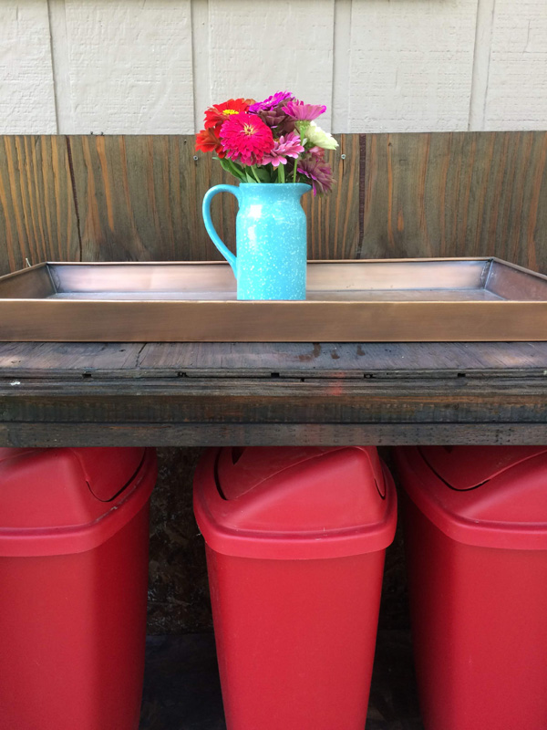 How to style a potting bench