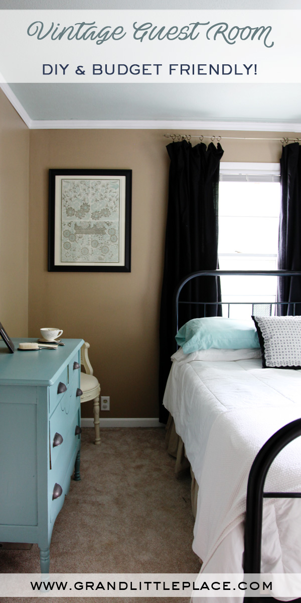 Using Childhood furniture to create a guest room on a budget