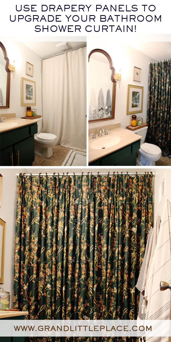 Shower Curtain Update Using Drapery Panels Grand Little Place