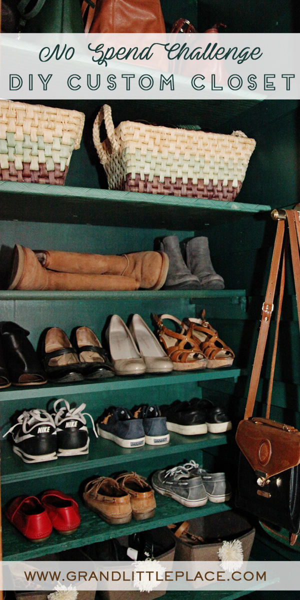 Diy Custom Closet For Shoes 0 Makeover Grand Little Place